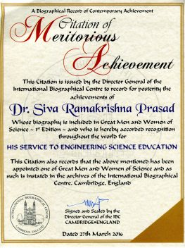 da1077a844 Citation of Meritorious Achievement – 2016